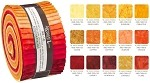 Robert Kaufman Artisan Batiks: Prisma Dyes, Lava Flow Roll-up - 40 Total Strips