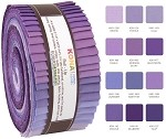 Robert Kaufman Kona Cotton Lavender Fields Roll-up - 40 Strip Roll