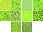 Charm Pack 5x5 Squares - Basic Colors Lime - 40 5