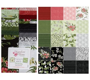"Benartex Magnificent Blooms Strip-pies - 40 2.5"" Strips Flat Pack"