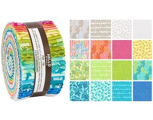 Robert Kaufman Marmalade Dreams (Valori Wells) Roll-up - 40 Strip Roll