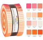 Robert Kaufman Kona Cotton Melon Ball Palette Roll-up - 40 Strip Roll