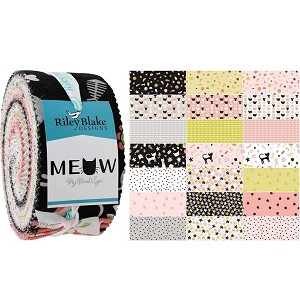 Meow by Mind's Eye for Riley Blake - 40 Strip Rolie Polie