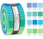 Robert Kaufman Kona Cotton Mermaid Shores Palette Roll-up - 40 Strip Roll