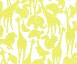 (2 yd) Michael Miller - Animal Silhouettes - Yellow