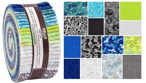 Robert Kaufman Musings by Valori Wells Roll-up - 40 Total Strips