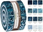 Robert Kaufman Artisan Batik Natural Formations Rain Colorstory Roll-up - 40 Strip Roll