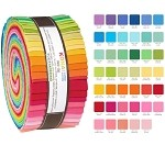 Robert Kaufman Kona Cotton New Bright Palette Roll-up - 41 Strip Roll