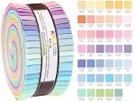 Robert Kaufman Kona Cotton New Pastel Roll-up - 40 Strip Roll