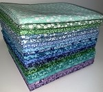 Ocean Florals Fat Quarter Bundle - 20 Fabrics, 20 Total Fat Quarters