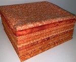 Basic Colors - Orange Fat Quarter Bundle - 10 Fabrics, 10 Total Fat Quarters