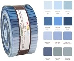 Robert Kaufman Kona Cotton Overcast Palette Roll-up - 40 Strip Roll