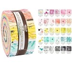 Robert Kaufman Palm Canyon by Violet Craft Roll-up - 40 Total Strips