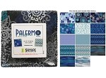 Charm Pack 5x5 Squares - Benartex Palermo Teal - 40 5