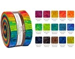 Robert Kaufman Patina Handpaints DOUBLE Ombre Roll-up - 40 Strip Roll