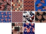 Charm Pack 5x5 Squares - Patriotic Flags - 40 5