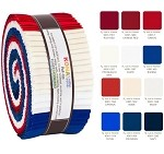 Robert Kaufman Kona Cotton Patriotic Palette Roll-up - 40 Strip Roll