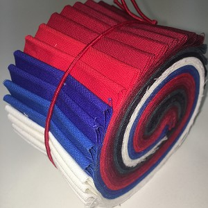 "Supreme Cotton Solid Patriotic Palette 2.5"" Roll - 20 Total Strips"