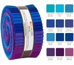 Robert Kaufman Kona Cotton Peacock Palette Roll-up - 40 Strip Roll