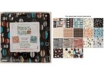 Charm Pack 5x5 Squares - Benartex Perfect Blend Teal - 40 5