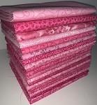 Pink Palette Fat Quarter Bundle - 20 Fabrics, 20 Fat Quarters