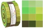 Robert Kaufman Kona Cotton Pleasant Pastures Palette Roll-up - 40 Strip Roll