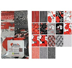 "Benartex Poppy Promenade Strip-pies - 40 2.5"" Strips Flat Pack"