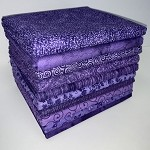 Basic Colors Purple Half-yard Bundle - 10 Fabrics, 5 Total Yards