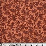 (2 yd) Floral Cluster - Rust