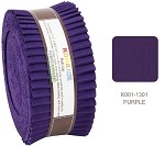 Robert Kaufman Kona Cotton Purple Roll-up - 40 Strip Roll