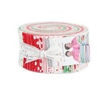 Red Dot Green Dash BRUSHED Cotton Jelly Roll - by Moda - 40 Strips