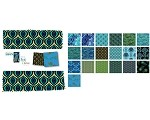 Charm Pack 5x5 Squares - Benartex Rhapsody In Blue - 40 5