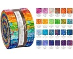 Robert Kaufman Artisan Batik Round and Around Roll-up - 40 Strip Roll