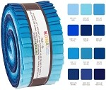 Robert Kaufman Kona Cotton Sky Gazer Palette Roll-up - 40 Strip Roll