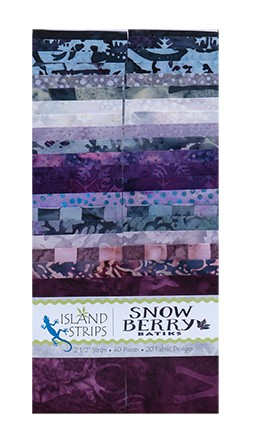 Island Batik - Snowberry - 20 Fabrics, 40 Total Strips