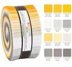 Robert Kaufman Kona Cotton Sunny Side Up Palette Roll-up - 40 Strip Roll