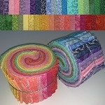 Limited Edition Sunrise/Sunset Bundle - 40 Fabrics/40 Strips Total, Set of 2 Rolls