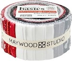 Kimberbell Basics Black/Red/White Roll - Maywood Studios - 40 Strips