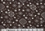 (2 yd)  Big Bandana Print - Brown