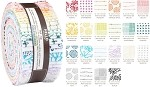 Robert Kaufman Blueberry Park by Karen Lewis Low Volume Colorstory  Roll-up - 40 Total Strips