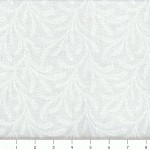 (2 yd) White - Tone on Tone Cotton Quilting Fabric -  Showy Fern