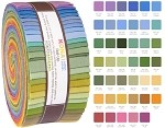 Robert Kaufman Kona Cotton New Dusty Palette Roll-up - 41 Strip Roll