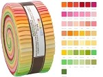 Robert Kaufman Kona Cotton Sunrise Palette Roll-up - 43 Strip Roll