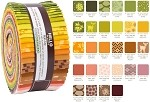 Robert Kaufman Terrarium Warm by Elizabeth Hartman Roll-up - 40 Total Strips