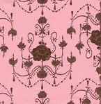 (2 yd) Westminster/Free Spirit - Tina Givens - Olivia's Holiday Garden Chandeliers Pink