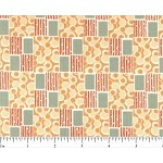 (2 yd) Andover Downton Abbey Square/Check Peach