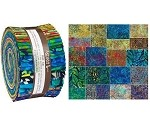 Robert Kaufman Artisan Batiks: Totally Tropical Roll-up - 40 Total Strips
