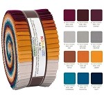 Robert Kaufman Kona Cotton Tuscan Skies Palette Roll-up - 40 Strip Roll