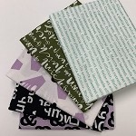 Cloud 9 Typography Fat Quarter Bundle - 5 Fabrics, 5 Total Fat Quarters