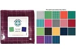 Charm Pack 5x5 Squares - Benartex Warp and Weft Premium Yarn Dyes  - 40 5